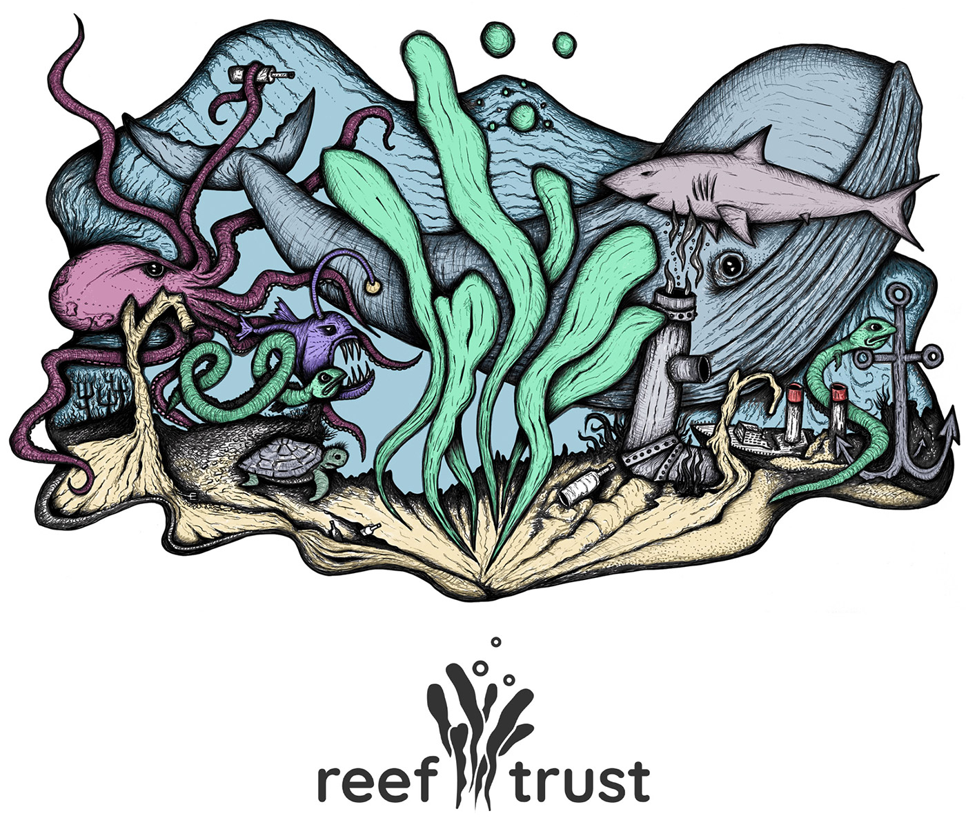 Reef Trust T-shirt Design