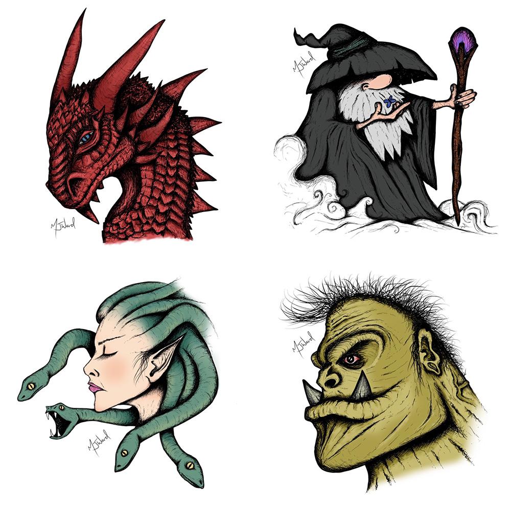 Fantasy Art Doodles